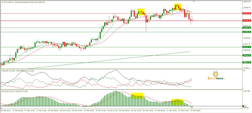 تحليل سعر البيتكوين اليوم مقابل الدولار 22 فبراير